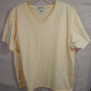 Eddie Bauer Short Sleeve V-neck T-shirt Womens XL